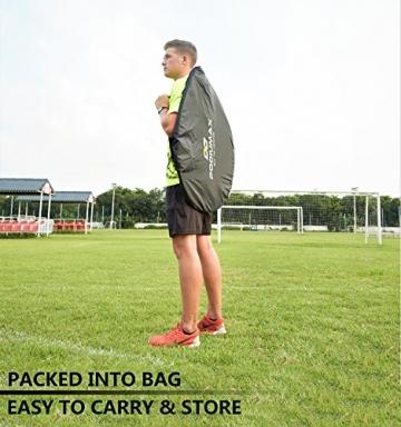 Podiumax 2er Set Fußballtor selbstentfaltend klappbar mit Torwand für Training und Kinder, Pop Up Tor mit Tragetasche, Maße: 4ft (121*81*81cm) - 3