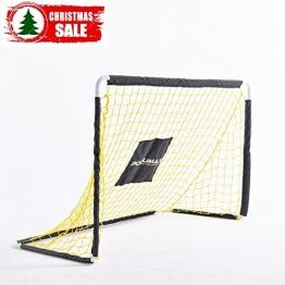 PodiuMax 4ft Durable Kinder Fußball Ziel - DIY Metall Rohr Montage, schwarz / gelb - 1