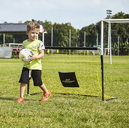 PodiuMax 4ft Durable Kinder Fußball Ziel - DIY Metall Rohr Montage, schwarz / gelb - 7