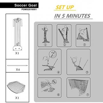 Podiumax Tragbar Fußball Ziel - 7