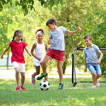 Relaxdays Fußballtor, Profi Soccertor für Kinder & Erwachsene, mit Tornetz, für Garten, HBT 110x150x75cm, grau/schwarz - 3