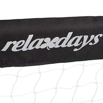 Relaxdays Fußballtor, Profi Soccertor für Kinder & Erwachsene, mit Tornetz, für Garten, HBT 110x150x75cm, grau/schwarz - 5