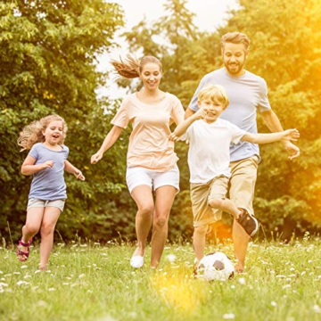 Relaxdays Fußballtor, Profi Soccertor für Kinder & Erwachsene, mit Tornetz, für Garten, HBT 110x150x75cm, grau/schwarz - 6
