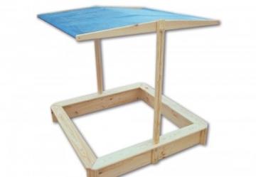 Sandkasten mit verstellbarem Dach, FSC-zertifiziert - 1