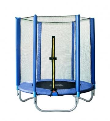 SixBros. SixJump 1,40 M Gartentrampolin Blau Trampolin mit Sicherheitsnetz T140/1535 - 1