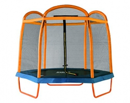 SixBros. SixJump 2,10 M Gartentrampolin Orange Trampolin mit Sicherheitsnetz TO210/2027 - 1