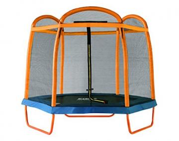 SixBros. SixJump 2,10 M Gartentrampolin Orange Trampolin mit Sicherheitsnetz TO210/2027 - 1