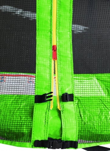 SixBros. SixJump 2,45 M Gartentrampolin Grün Trampolin - Leiter - Sicherheitsnetz - Wetterplane TG245/1611 - 2