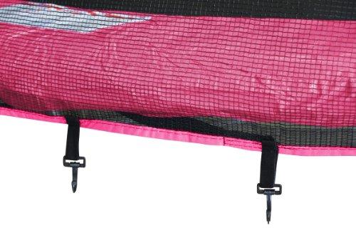 SixBros. SixJump 2,45 M Gartentrampolin Pink Trampolin - Leiter - Sicherheitsnetz - Wetterplane - Lange Netzstangen - TP245/1613 - 3