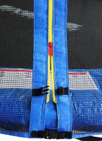 SixBros. SixJump 4,60 M Gartentrampolin Blau Trampolin - Leiter - Sicherheitsnetz - Wetterplane TB460/1790 - 2
