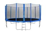 SixBros. SixJump 4,60 M Gartentrampolin Blau Trampolin - Leiter - Sicherheitsnetz - Wetterplane TB460/1790 - 1