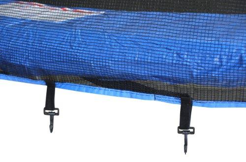SixBros. SixJump 4,60 M Gartentrampolin Blau Trampolin - Leiter - Sicherheitsnetz - Wetterplane TB460/1790 - 3