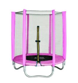 SixBros. SixJump Gartentrampolin 1,40m, Kindertrampolin inkl. Sicherheitsnetz, Outdoor-Trampolin in pink, robust & wasserdicht, gepolsterte Randabdeckung TP140/1534 - 1