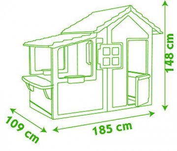 Smoby 310300 - Neo Floralie Spielhaus - 5