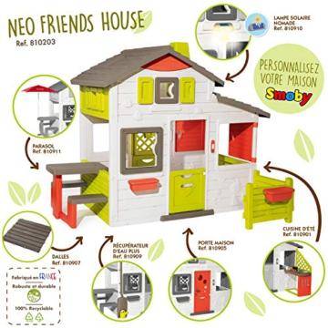 Smoby 810203 - Neo Friends Haus - Spielhaus für Kinder für drinnen und draußen, erweiterbar durch Zubehör, Gartenhaus für Jungen und Mädchen ab 3 Jahren - 2