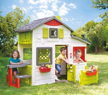 Smoby 810203 - Neo Friends Haus - Spielhaus für Kinder für drinnen und draußen, erweiterbar durch Zubehör, Gartenhaus für Jungen und Mädchen ab 3 Jahren - 3