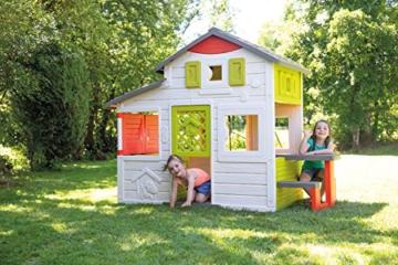 Smoby 810203 - Neo Friends Haus - Spielhaus für Kinder für drinnen und draußen, erweiterbar durch Zubehör, Gartenhaus für Jungen und Mädchen ab 3 Jahren - 4