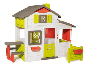 Smoby 810203 - Neo Friends Haus - Spielhaus für Kinder für drinnen und draußen, erweiterbar durch Zubehör, Gartenhaus für Jungen und Mädchen ab 3 Jahren - 1