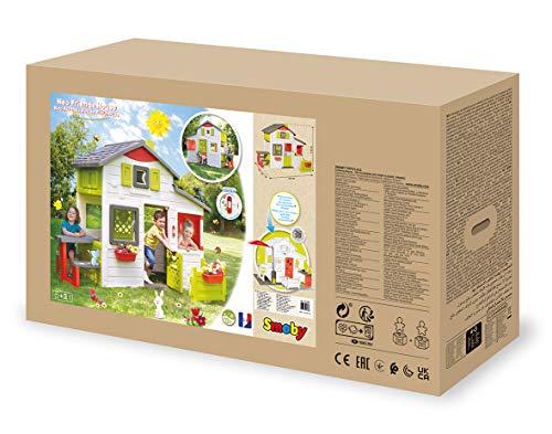 Smoby 810203 - Neo Friends Haus - Spielhaus für Kinder für drinnen und draußen, erweiterbar durch Zubehör, Gartenhaus für Jungen und Mädchen ab 3 Jahren - 6