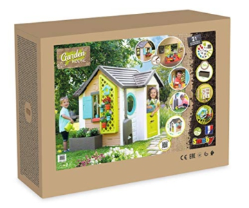 Smoby 810405 - Gartenhaus - Spielhaus für drinnen und draußen, mit kleiner Eingangstür und Fenstern, viel Zubehör zum Gärtnern, für Jungen und Mädchen ab 2 Jahren - 11