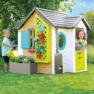 Smoby 810405 - Gartenhaus - Spielhaus für drinnen und draußen, mit kleiner Eingangstür und Fenstern, viel Zubehör zum Gärtnern, für Jungen und Mädchen ab 2 Jahren - 4