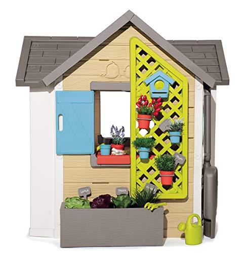 Smoby 810405 - Gartenhaus - Spielhaus für drinnen und draußen, mit kleiner Eingangstür und Fenstern, viel Zubehör zum Gärtnern, für Jungen und Mädchen ab 2 Jahren - 5
