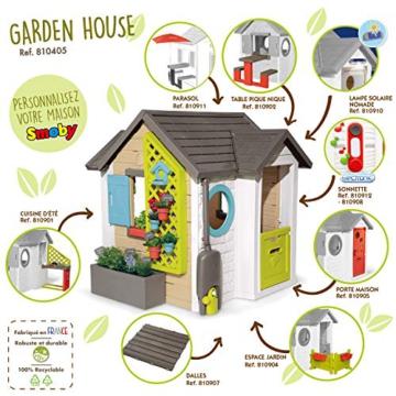 Smoby 810405 - Gartenhaus - Spielhaus für drinnen und draußen, mit kleiner Eingangstür und Fenstern, viel Zubehör zum Gärtnern, für Jungen und Mädchen ab 2 Jahren - 7