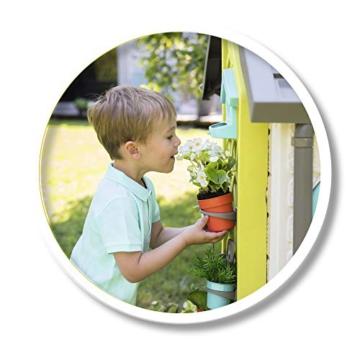 Smoby 810405 - Gartenhaus - Spielhaus für drinnen und draußen, mit kleiner Eingangstür und Fenstern, viel Zubehör zum Gärtnern, für Jungen und Mädchen ab 2 Jahren - 8
