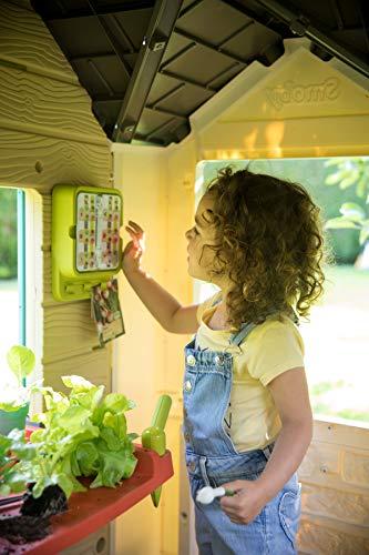 Smoby 810405 - Gartenhaus - Spielhaus für drinnen und draußen, mit kleiner Eingangstür und Fenstern, viel Zubehör zum Gärtnern, für Jungen und Mädchen ab 2 Jahren - 9