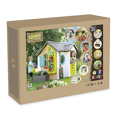 Smoby 810405 - Gartenhaus - Spielhaus für drinnen und draußen, mit kleiner Eingangstür und Fenstern, viel Zubehör zum Gärtnern, für Jungen und Mädchen ab 2 Jahren - 10