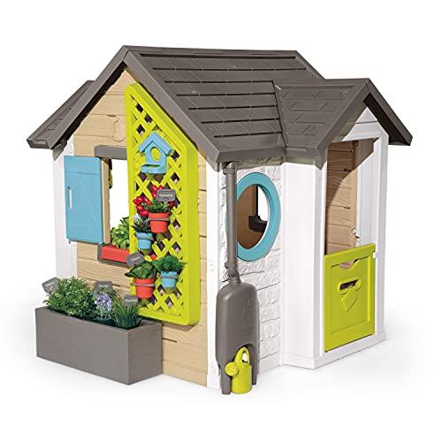 Smoby 810405 - Gartenhaus - Spielhaus für drinnen und draußen, mit kleiner Eingangstür und Fenstern, viel Zubehör zum Gärtnern, für Jungen und Mädchen ab 2 Jahren - 1