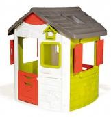 Smoby 810500 Neo Jura Lodge. Kinderspielhaus für Indoor und Outdoor, Gartenhaus für Kinder ab 2 Jahren, Grau, Grün, Weiß, Rot - 1