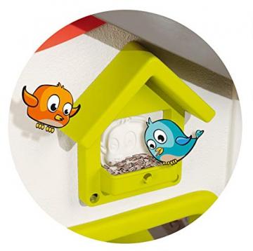 Smoby 810500 Neo Jura Lodge. Kinderspielhaus für Indoor und Outdoor, Gartenhaus für Kinder ab 2 Jahren, Grau, Grün, Weiß, Rot - 3