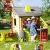Smoby 810500 Neo Jura Lodge. Kinderspielhaus für Indoor und Outdoor, Gartenhaus für Kinder ab 2 Jahren, Grau, Grün, Weiß, Rot - 6