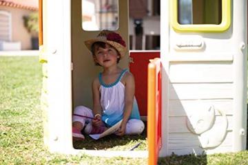 Smoby 810500 Neo Jura Lodge. Kinderspielhaus für Indoor und Outdoor, Gartenhaus für Kinder ab 2 Jahren, Grau, Grün, Weiß, Rot - 7