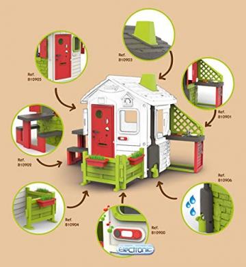 Smoby 810500 Neo Jura Lodge. Kinderspielhaus für Indoor und Outdoor, Gartenhaus für Kinder ab 2 Jahren, Grau, Grün, Weiß, Rot - 8