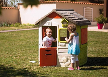 Smoby 810500 Neo Jura Lodge. Kinderspielhaus für Indoor und Outdoor, Gartenhaus für Kinder ab 2 Jahren, Grau, Grün, Weiß, Rot - 9