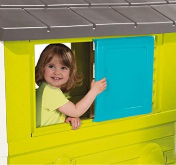 Smoby 810710 Pretty Spielhaus, Kinderspielhaus für Indoor und Outdoor, Gartenhaus für Kinder ab 2 Jahren, türkis - 3