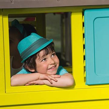Smoby 810710 Pretty Spielhaus, Kinderspielhaus für Indoor und Outdoor, Gartenhaus für Kinder ab 2 Jahren, türkis - 4