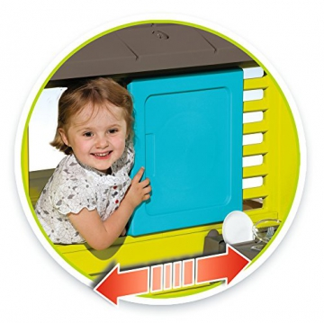 Smoby 810711 Pretty Spielhaus mit Sommerküche, Kinderspielhaus mit Kinderküche für Kinder ab 2 Jahren, türkis - 2