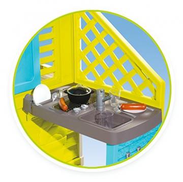Smoby 810711 Pretty Spielhaus mit Sommerküche, Kinderspielhaus mit Kinderküche für Kinder ab 2 Jahren, türkis - 3