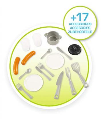 Smoby 810711 Pretty Spielhaus mit Sommerküche, Kinderspielhaus mit Kinderküche für Kinder ab 2 Jahren, türkis - 6