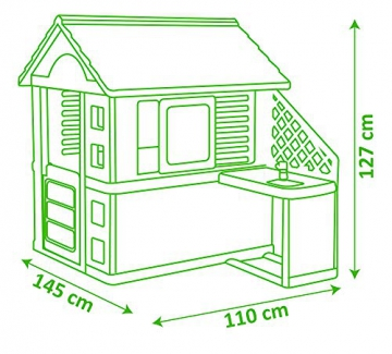 Smoby 810711 Pretty Spielhaus mit Sommerküche, Kinderspielhaus mit Kinderküche für Kinder ab 2 Jahren, türkis - 7