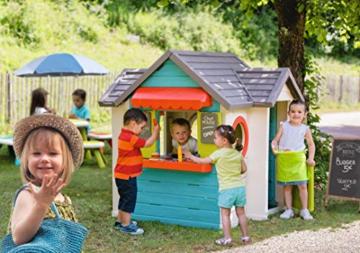 Smoby – Chef Haus - Multifunktionshaus für Kinder für drinnen und draußen, Restaurant, Spielhaus und Kaufmannsladen für Jungen und Mädchen ab 2 Jahren - 2