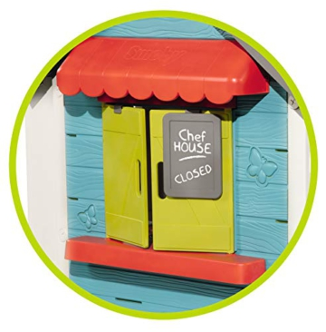 Smoby – Chef Haus - Multifunktionshaus für Kinder für drinnen und draußen, Restaurant, Spielhaus und Kaufmannsladen für Jungen und Mädchen ab 2 Jahren - 3