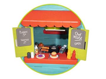Smoby – Chef Haus - Multifunktionshaus für Kinder für drinnen und draußen, Restaurant, Spielhaus und Kaufmannsladen für Jungen und Mädchen ab 2 Jahren - 4