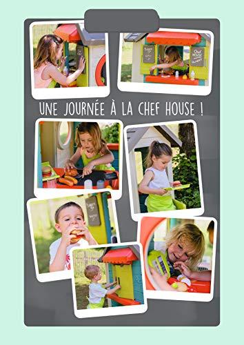 Smoby – Chef Haus - Multifunktionshaus für Kinder für drinnen und draußen, Restaurant, Spielhaus und Kaufmannsladen für Jungen und Mädchen ab 2 Jahren - 7