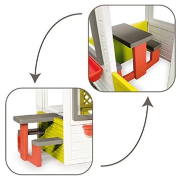 Smoby – Friends House - Spielhaus für Kinder für drinnen und draußen, mit Sitzbank, Türklingel, Fenstern. Gartenhaus für Jungen und Mädchen ab 2 Jahren - 2