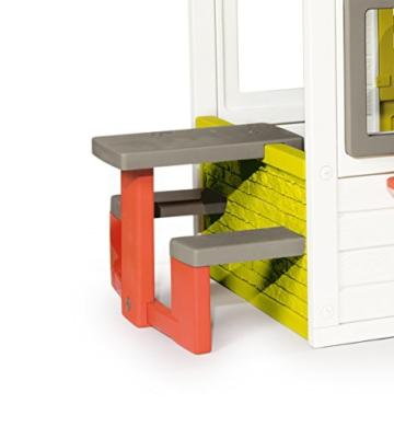 Smoby – Friends House - Spielhaus für Kinder für drinnen und draußen, mit Sitzbank, Türklingel, Fenstern. Gartenhaus für Jungen und Mädchen ab 2 Jahren - 6