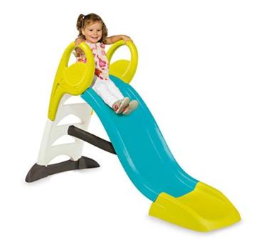 Smoby – KS Rutsche – kompakte Kinderrutsche mit Wasseranschluss, 1,5 Meter lang, mit Rutschauslauf, Verstrebung, Haltegriffen, für Kinder ab 2 Jahren - 2